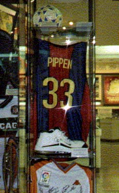 Scottie Pippen's Signed Barcelona Basketball Shirt