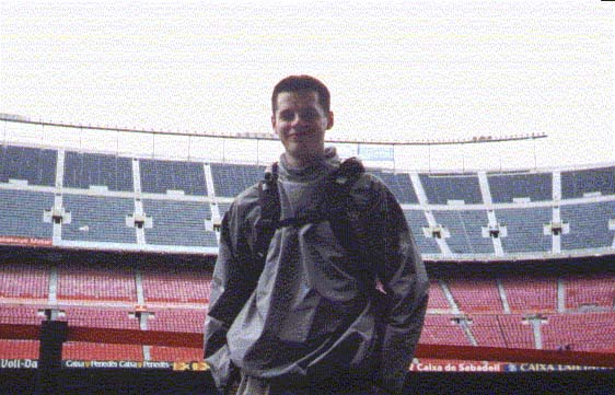 Ben Meadowcroft in Nou Camp Stadium