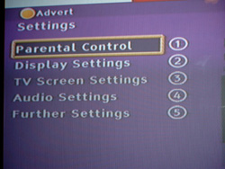 linear menu seen in set-top box menus